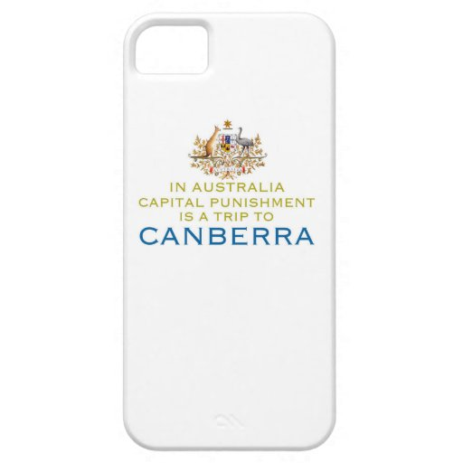 Canberra...Capital Punishment. iPhone 5 Covers