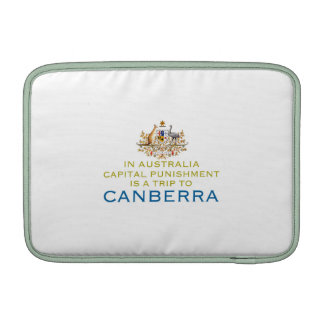 Canberra...Capital Punishment. Sleeves For MacBook Air