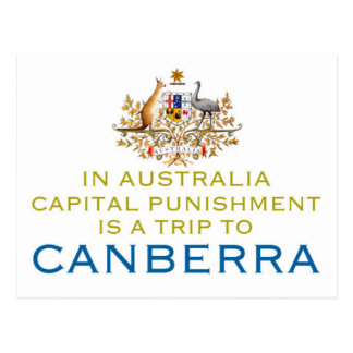 Canberra...Capital Punishment. Post Cards