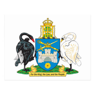 Canberra Coat Of Arms Postcard