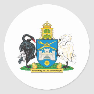 Canberra Coat Of Arms Round Sticker