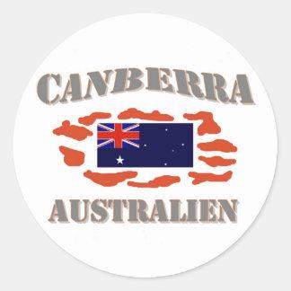 Canberra Round Stickers