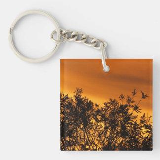 Canberra Summer Sunset Customisable Double-Sided Square Acrylic Key Ring