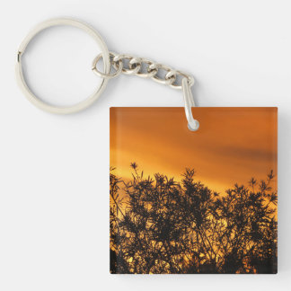 Canberra Summer Sunset Double-Sided Square Acrylic Key Ring