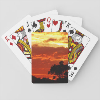 Canberra Summer Sunset Playing Cards
