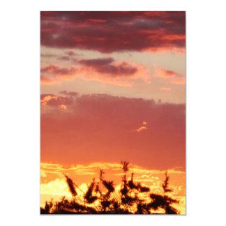 Canberra Sunset 13 Cm X 18 Cm Invitation Card