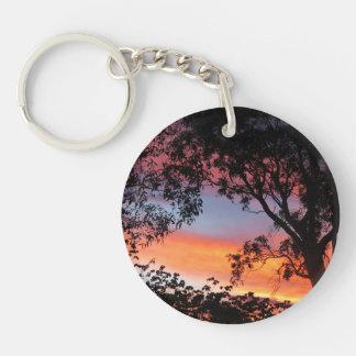 Canberra Sunset Double-Sided Round Acrylic Key Ring