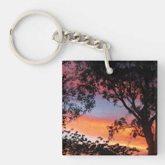 Canberra Sunset Single-Sided Square Acrylic Key Ring