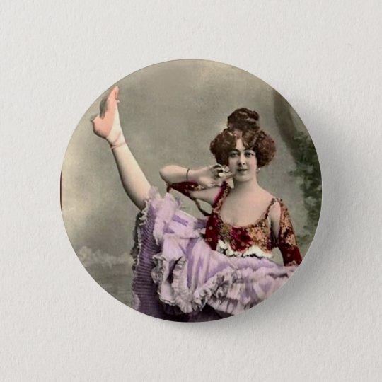 Cancan Dancer 6 Cm Round Badge
