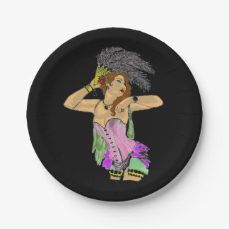 CANCAN DANCER PARTY PLATE DESIGN