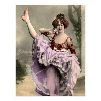 Cancan Dancer Post Card