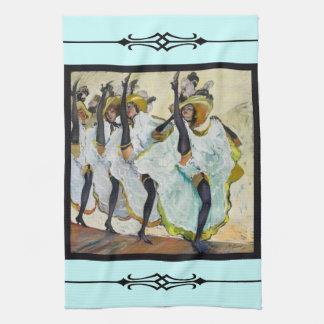 Cancan Dancers Tea Towel