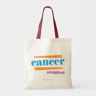 Cancer Aqua Tote Bag