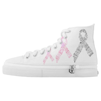 Cancer awareness Custom Zipz High Top Shoes Printed Shoes