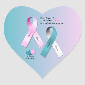 Cancer Awareness Heart Sticker