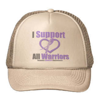 Cancer Awareness I Support All Warriors Hats
