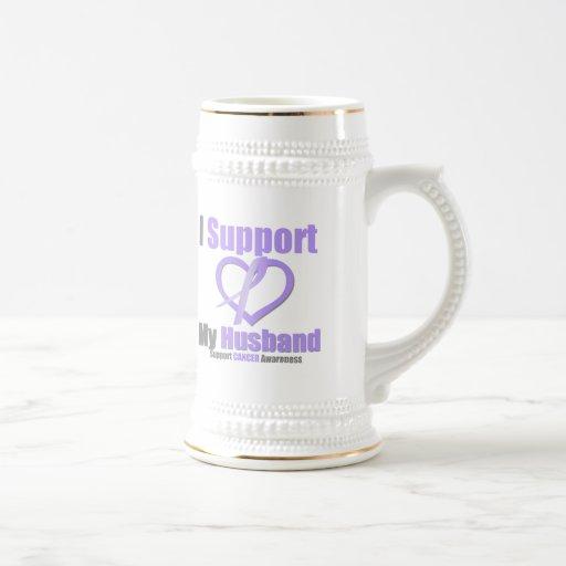 Cancer Awareness I Support My Husband Mug