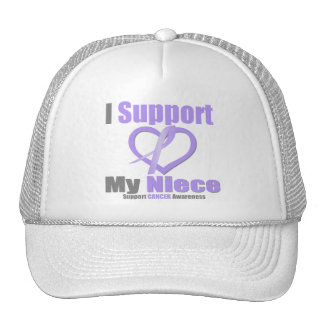Cancer Awareness I Support My Niece Mesh Hat