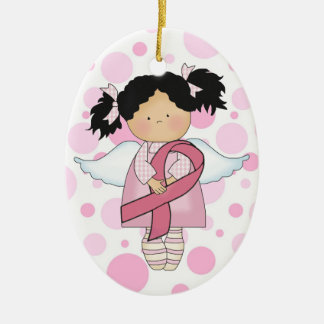 Cancer Awareness Pink Ribbon  - SRF Ceramic Oval Decoration