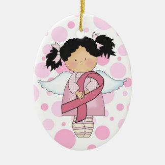 Cancer Awareness Pink Ribbon  - SRF Christmas Tree Ornament