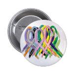 Cancer Awareness Ribbons Badges