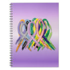 Cancer Awareness Ribbons Notebook