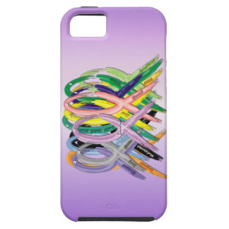 Cancer Awareness Ribbons on iPhone 5 case