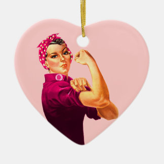 Cancer Awareness Rosie The Riveter Ornament