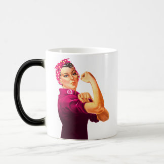 Cancer Awareness Rosie The Riveter Coffee Mugs
