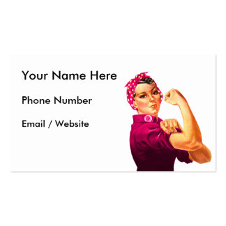 Cancer Awareness Rosie The Riveter Pack Of Standard Business Cards