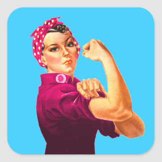 Cancer Awareness Rosie The Riveter Square Sticker