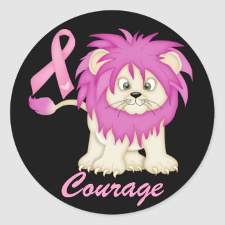 Cancer Awareness -Tracy's Lion by SRF Classic Round Sticker