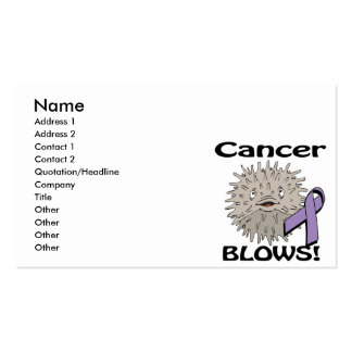 Cancer Blows Awareness Design Pack Of Standard Business Cards