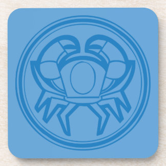 Cancer Blue Coaster