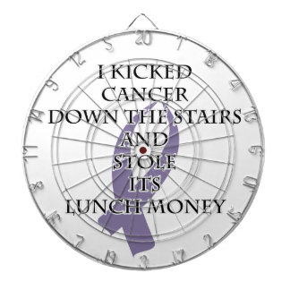 Cancer Bully (Light Purple Ribbon) Dartboard