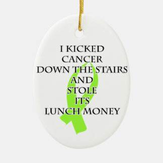 Cancer Bully (Lime Green Ribbon) Christmas Ornament