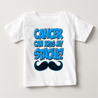 Cancer can Kiss my Stache! Baby T-Shirt