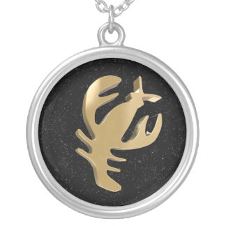 Cancer, Cancro Silver Plated Necklace