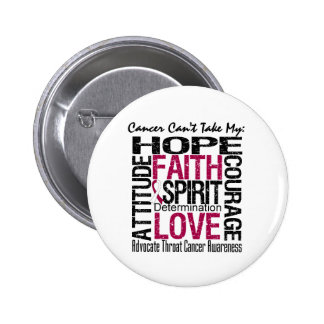 Cancer Can't Take My Hope Collage Throat Cancer 6 Cm Round Badge