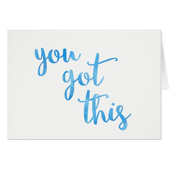 Cancer Chemo Card, You Got This - Greeting