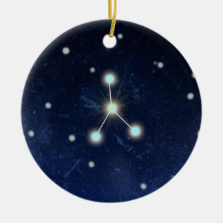 Cancer Constellation | Custom Name Round Ceramic Decoration