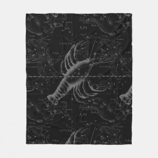Cancer Constellation Hevelius 1690 Decor Fleece Blanket