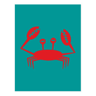Cancer crab crawfish postcard