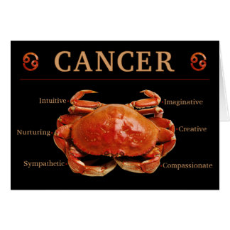 Cancer Crab Zodiac Card with Traits