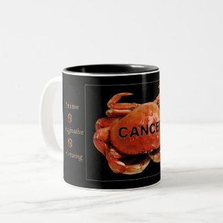 Cancer Crab Zodiac Mug with Traits