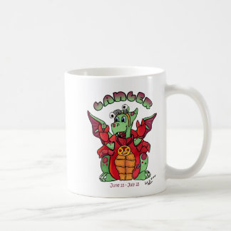 Cancer cute zodic baby dragon coffee mug