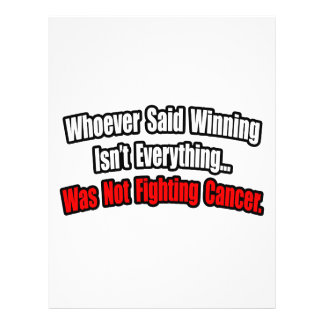 Cancer Fighting Quote Flyer Design