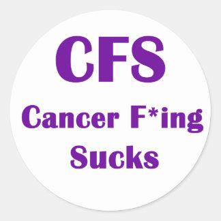 Cancer Freaking Sucks CFS Round Sticker