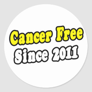 Cancer Free Since 2011 Round Stickers
