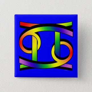 Cancer & Gemini GLBT 15 Cm Square Badge